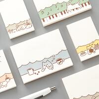 可爱动物便利贴 韩国创意N次贴便签条记事贴便签纸留言贴