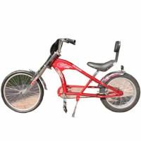 哈雷型自行车海滩20-24寸超宽后轮休闲单公路太子 公路车 山地车 红色 20-24英寸
