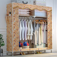简易布衣柜布艺钢管加粗加固衣柜简约现代经济型组装衣橱收纳柜