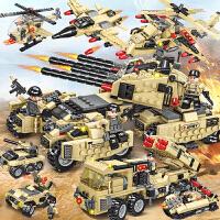 乐高积木军事坦克飞机益智力拼装儿童男孩子玩具装甲车拼图6-10岁