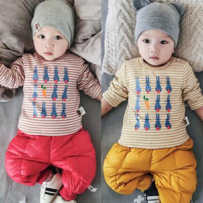 婴儿加绒上衣冬季宝宝条纹套头绒衫打底冬装0-3-6-9-12个月衣服潮 发货周期:一般在付款后2-90天左右发货,具体发货时间请以与客服协商的时间为准