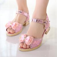 童鞋女童凉鞋儿童沙滩鞋夏季大童公主鞋学生舞蹈鞋宝宝鞋