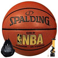 Spalding/斯伯丁篮球原64-284/74-606Y NBA金色经典PU皮室内外用球