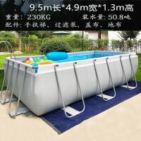充气游泳池 大型支架家用儿童加高加厚戏水池超大家庭别墅移动折叠游泳池 CX