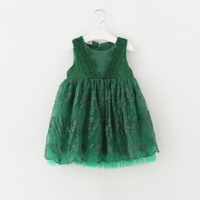 夏季女童公主蕾丝连衣裙子女宝宝背心裙小童洋气夏装4夏天1-3-5岁 发货周期:一般在付款后2-90天左右发货,具体发货时间请以与客服协商的时间为准