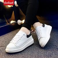 【新春惊喜价】Coolmuch情侣板鞋2020新款轻便百搭松糕底小白鞋男女生系带休闲板鞋QD8803