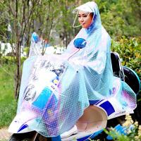 摩托�雨披��榆�雨衣�r尚加大男女�稳怂�晶雨衣